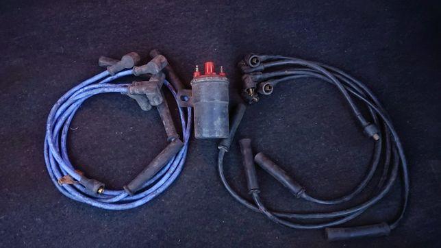 Катушка зажигания с високовольтними проводами Ford Escort CVH 8v.