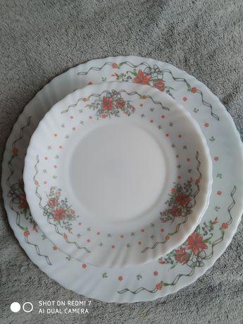 Набор фарфоровых тарелок 12+2 Биосервис
