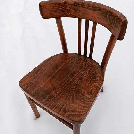Krzesło drewniane PRL po renowacji