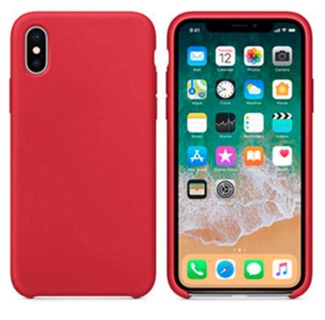 Capa / Case silicone iPhone X e XS Vermelha Nova
