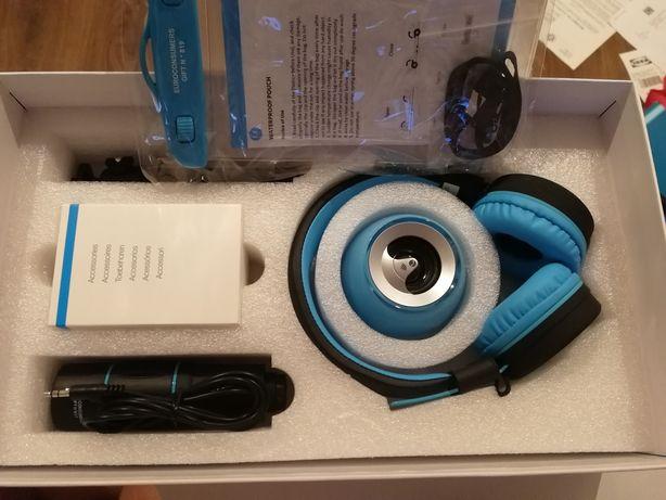 Kit de gadgets para smartphone com auscultadores e coluna Bluetooth