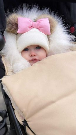 шапка на девочку зима