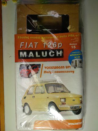 Kolekcja Deagostini Metalowy Model FIATA 126p z przyczepą nr: 15