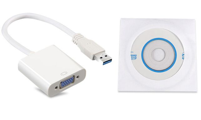 Внешняя видеокарта USB 3.0 в VGA можно подключить +1 монитор адаптер