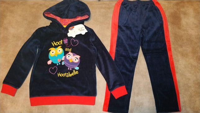 Велюровый спортивный костюм сова, совушки tm nova