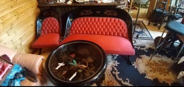 Meble egipskie , sofa , dwa fotele , stolik