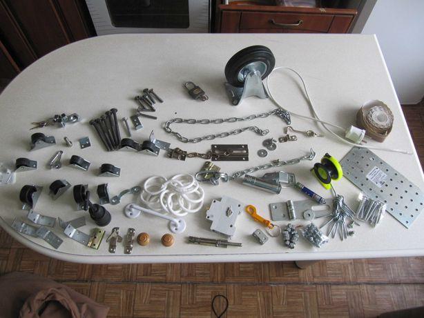 Болты, гайки, колесо , шуруп кольцо, саморезы, колесики, уголки, вилка