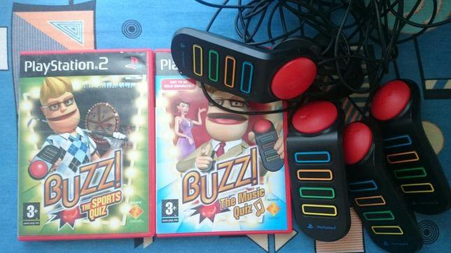 Buzzery PS2 PS3 + gra