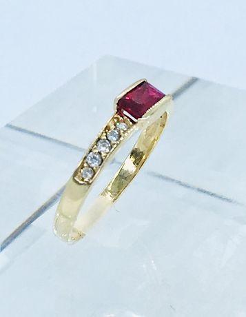 Złoty pierścionek 585. Rozmiar 13.
