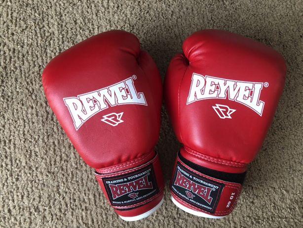 Перчатки для бокса и кикбоксинга Reyvel кожзам