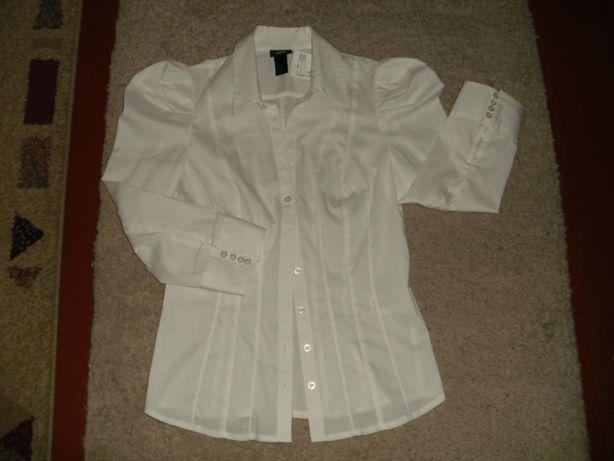 Biała bluzka wizytowa nowa, R.36 H&M.