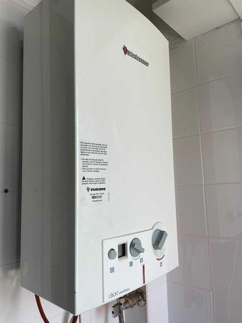Esquentador ventilado Vulcano gás natural em bom estado. Bom preço