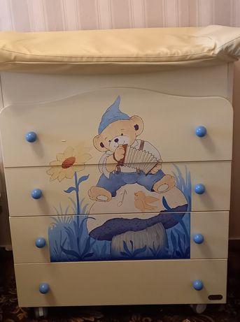 Комплект мебели Erbesi кроватка комод пеленальный стол ванночка