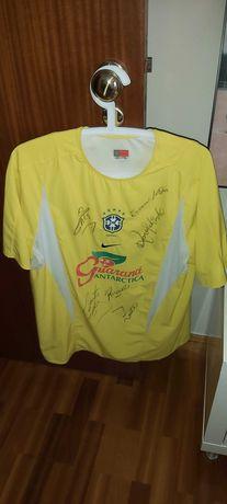 Camisola da Seleção do Brasil treino Autografada