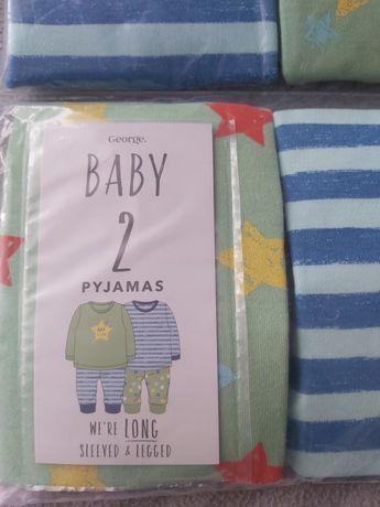 2 piżamy angielską firma George 12-18 miesiecy
