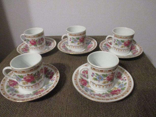 filiżanki chińskie porcelana 5 sztuk