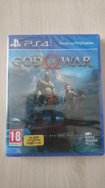 God of war (Бог войны) для пс 4, новый.