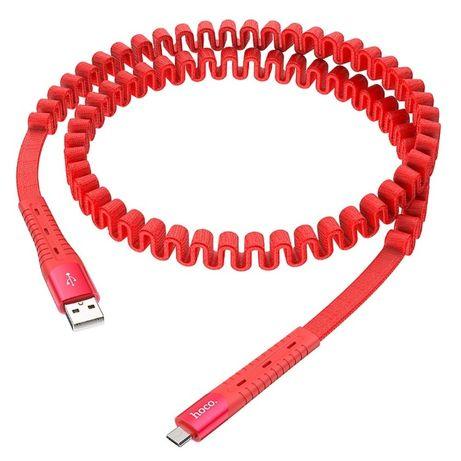Kabel elastyczny sprężynowy zwijany HOCO U78 microusb micro usb 1.2m