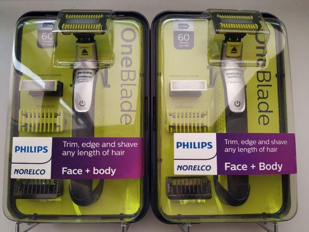 Бритва Philips Oneblade QP2630(2530) Face&Body 60 Мин/2 Лезвия/6 насад