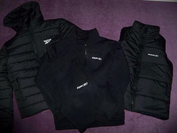 Мужская спортивная зимняя куртка+жилетка+спортивный костюм мужской