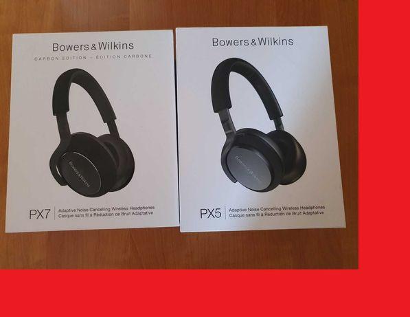 NOWE - Słuchawki Bluetooth ANC Bowers & Wilkins PX5 i PX7 Black Carbon