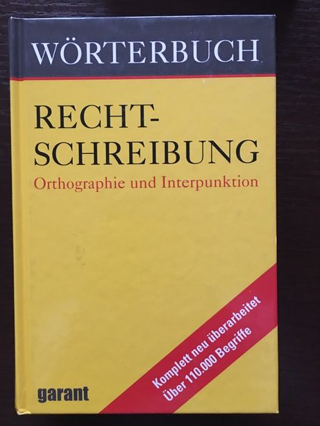 Niemiecki; Wörterbuch; Rechtschreibung