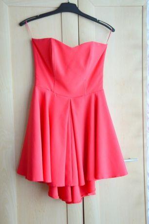 Śliczna malinowa sukienka rozm. 38!