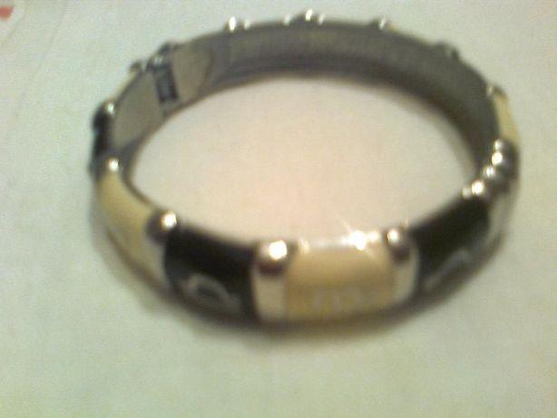 ивый металлический браслет черно-кофейный с буквами, съемный