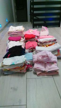 Mega paka ubrań dla dziewczynki rozmiar od 56
