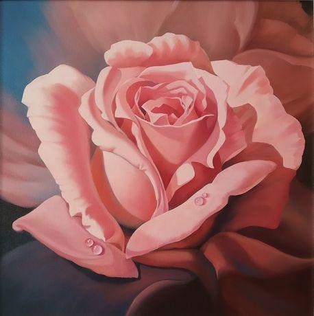 Картина маслом .Роза