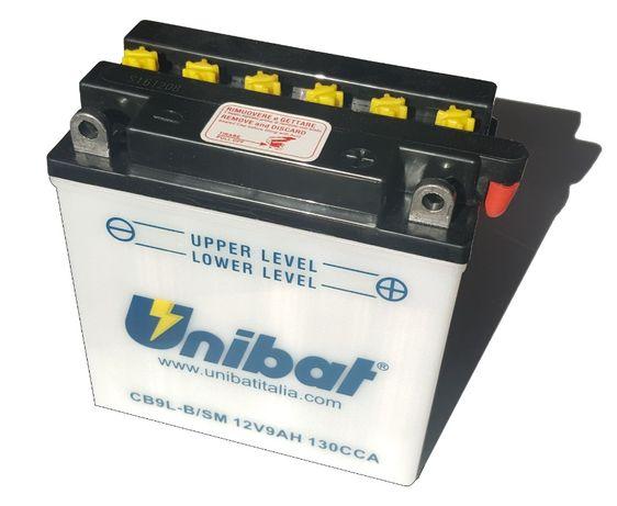 Akumulator Unibat CB9L-B YB9L-B 9Ah 130A 12V NOWY