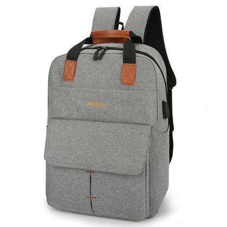 Тканевый городской рюкзак с накладным карманом и USB 26л 3 цвета