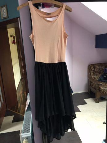 Asymetryczna sukienka bez pleców S