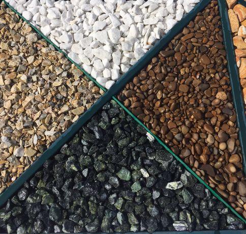 Мраморна галька,крошка,природній натуральний камінь для ландшафту ОПТ