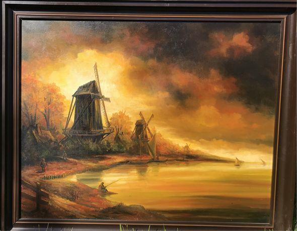 Bardzo duży obraz olejny