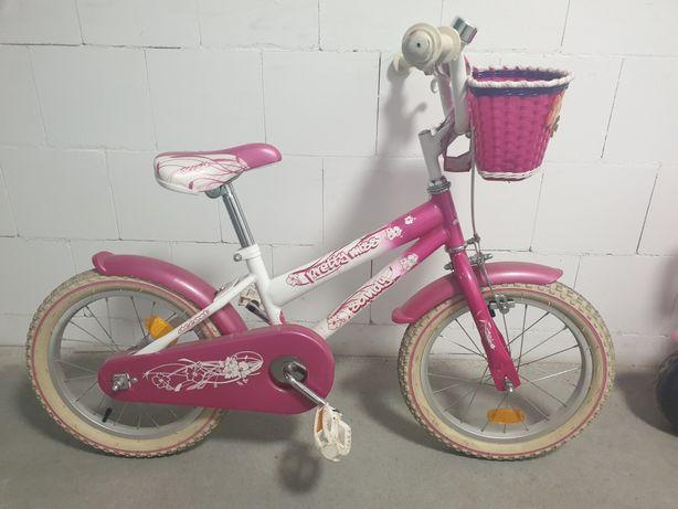 Rower Sandy 16 cali różowy