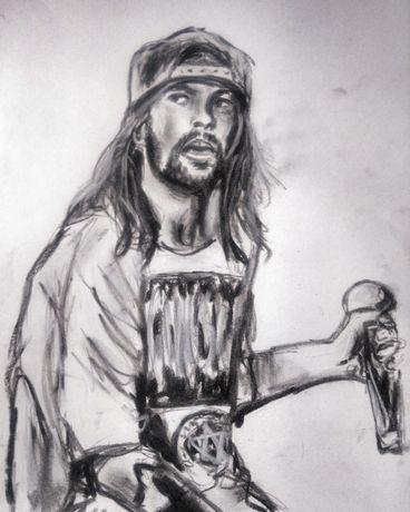 Axl Rose Guns N' Roses portret rysunek Rock