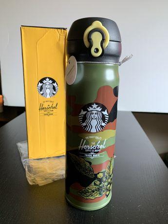 Garrafa Thermos Starbucks x Herschel (nova, na caixa)