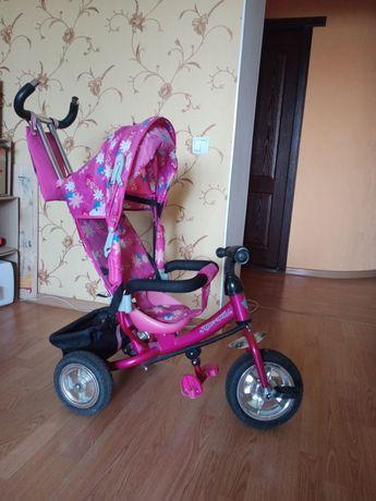 Azimut trike велосипед трёхколёсный с ручкой детский трансформер