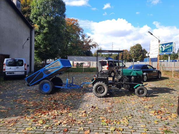 Traktorek Sam z przyczepą w bardzo dobrym stanie