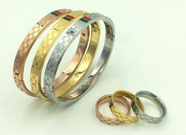 anel Gucci aço