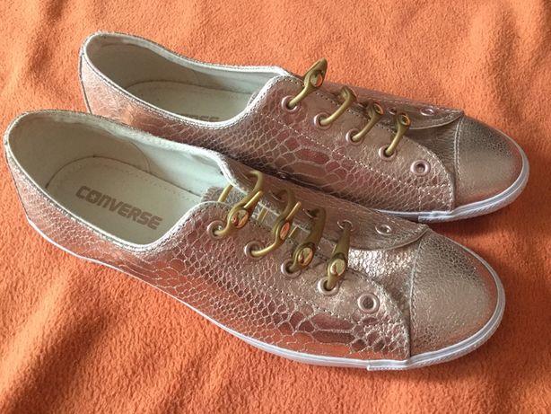 """Oryginalne złote buty trampki Converse """"wężowa skóra"""" roz. 40"""
