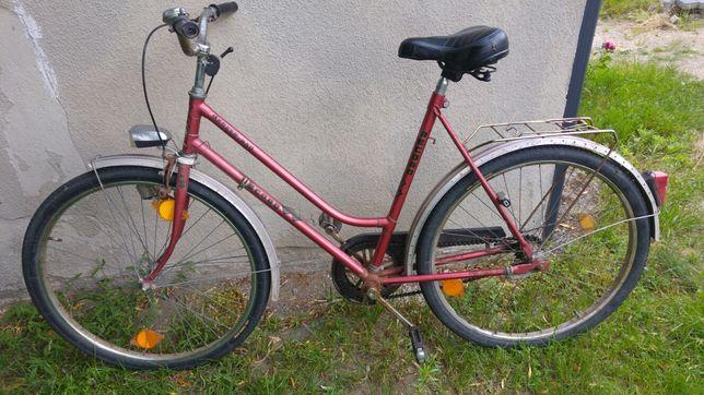 Stary niemiecki rower damka RECORD klasyk retro.