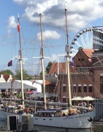 Bon turystyczny nocleg nad morzem Gdansk Luxon widok na Motławe parkin