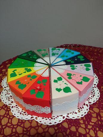 Tort papierowy - podziękowanie dla gości