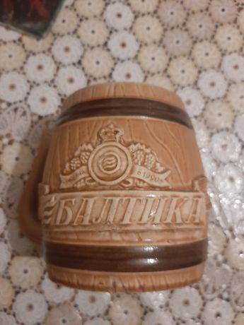 Кружка пивная, 2 штуки, глина, керамика