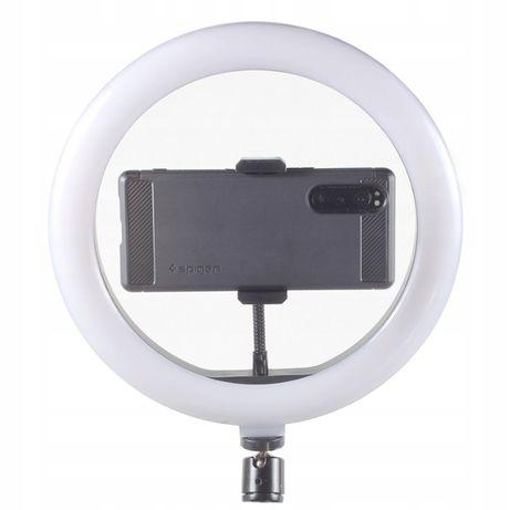 LAMPA PIERŚCIENIOWA LED selfie makijaz SMARTFON sama góra bez statywu