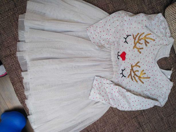 Sukienka z reniferkiem