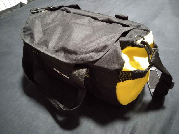 Nowa torba sportowa, na fitness, siłownię, czarna z żółtym