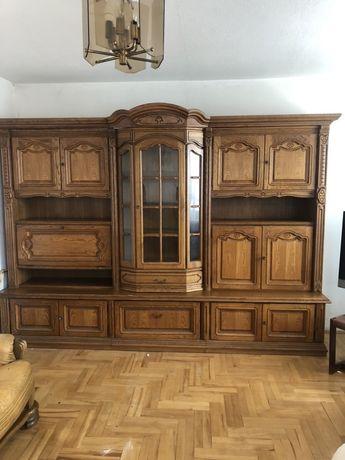 Meblościanka Swarzędz dąb drewniane meble salon